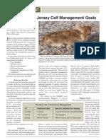 Jersey Calf Management Goal