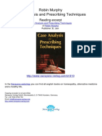 Case Analysis and Prescribing Techniques Robin Murphy.01213 1Contents