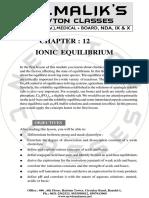 12. Ionic Equilibrium