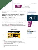 RSCIT I-Learn _ Internal Assessment -12 (माइक्रोसॉफ्ट एक्सेल)