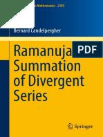 Ramanujan Summation of Divergent Series-Springer (2017)-- By Candelpergher, Bernard