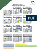 Calendario Escolar CRA 2019 2020