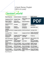 Revision World Quick Revise English