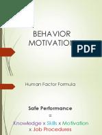 Behavior Motivation