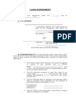 Sample Loan Agreement With Schedule of Payment