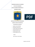 Informe Subterranea- Sublevel Caving en Yauricocha