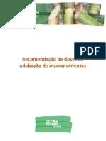 Recomendações de Doses de Adubação de Macronutrientes