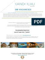 Kandolhu Maldives - Job Vacancies 270619