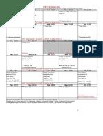 BIM 2 Calendar
