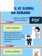 Lokal at Global Na Demand