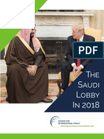 Saudi Lobbying in US - Centre for International Policy Report 2018