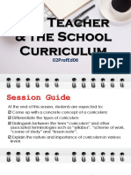 The Nature of Curriculum