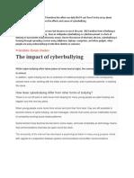 What Generates Cyberbullying