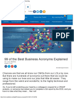 99 of the Best Business Acronyms Explained » Mind Tools Blog