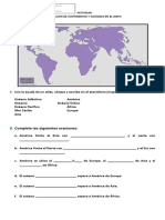 Guia Ubicar Continentes en Mapa