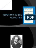 Repertory to the Modalities