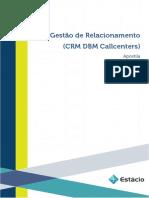 Apostila Gestao de Relacionamento Crm Dbm Call Centers