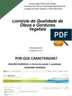 Procedimentos analíticos par óleo vegetal