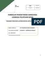 F.01 {Formulir Pendaftaran Akreditasi LPK} Revisi 01_SURABAYA.doc