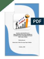 Manual de Politicas y Procedimientos Bajo Niif Para Pymes