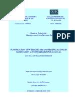 128836405 Planification Strategique Un Moyen Efficace Pour Harmoniser l Investissement Public Local Cas de La Cr Moulay Bousselham PDF