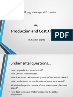 03. Production and Cost Analysis