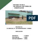 Informe Tecnico Estudio de Suelos i.e.