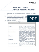 Proyecto Final - Rubrica 2019.1