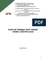 Plan de Postgrado 2019