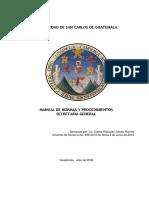 Manual de Procedimientos Secretaria General Convertido