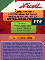 Implementacion y Certificacion de La Iso Ohsas 18001