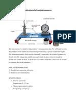 Calibration of a Bourdon Manometer