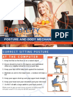 posture and body mechanics