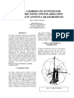 SPHERICAL COORDINATE SYSTEMS FOR DEFINING DIRECTIONS AND POLARIZATION COMPONENTS IN ANTENNA MEASUREMENTS