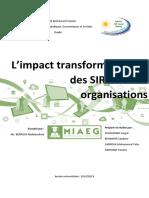 Impact transformationnel des SIRH sur les organisations