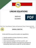 L1 Linear Equations