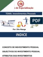 Trabalho de Finanças Corporativas