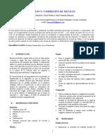 Artículo Científico Compresión y Tensión de Metales