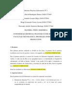 Informe Practica Laboratorio Nº 1 FISICA