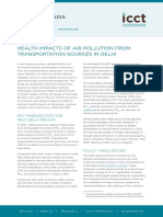 Health Impacts of air pollution from transportation sources in Delhi