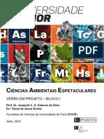 Ciências Ambientais Espetaculares BLOCO I - 2019