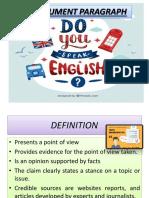 Exposicion de Ingles