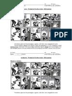 Avaliação Produção de texto quadrinhos