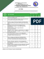 Cot Indicators Per Observation Per Quarter