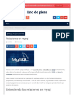Relaciones en Bases de Datos Mysql