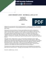 Asset Preservation - Mothball & Lay-up