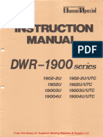 Kansai DWR-1900 Series Instruction Manual
