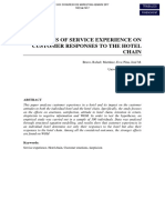 Effects of Service Experience on Customer Responses to the Hotel Chains