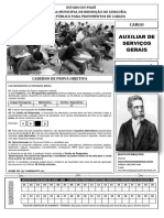 Caderno de Provas Auxiliar de Serviço