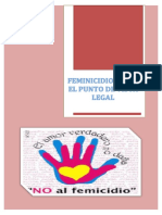 Feminicidio Desde El Punto de Vista Legal